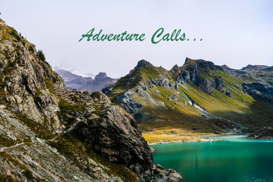 Adventure Calls by Lake